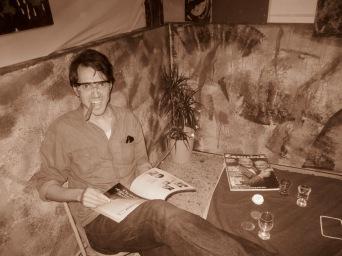Julian enjoying the scenery pre table-flip